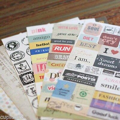 Pony Brown Message Sticker Set Diary Planner Book Scrapbook Cute Stamp Decor