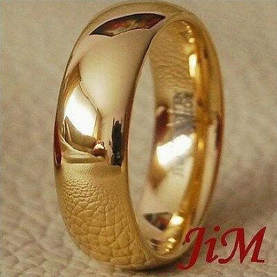 Gold Tungsten Wedding Band Ring Mens & Womens Anniversary Love Jewelry Size 6-13