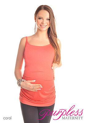 New Comfy MATERNITY Spaghetti Strap Top Camisole Vest Size 8 10 12 14 16 18 8010