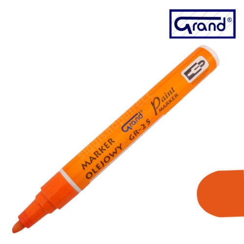 Marcador De Pintura Naranja Universal Base de Aceite de plástico de vidrio de madera Pluma impermeable para neumáticos