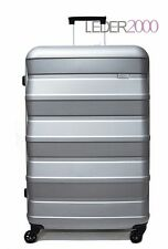 STRATIC Reise Koffer Trolley 4 Rollen Pile 76 cm L Silber Hart Gepäck
