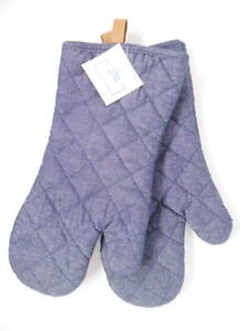 Always First Industrial Oven Mitts, Quilted Padded, Blue, 13.5 in. x 7 in.