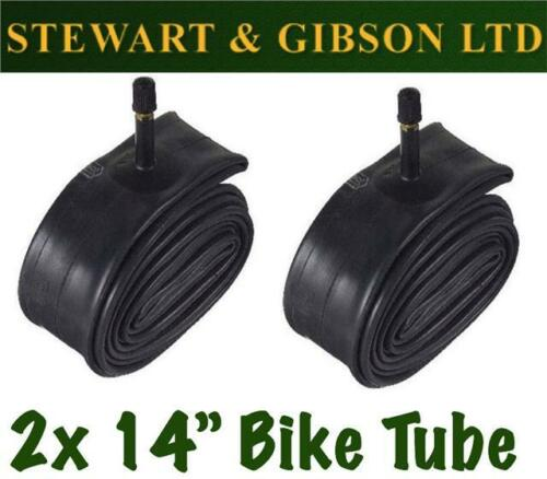 2 x IGNITE 14 INCH INNER BICYCLE TUBE TUBES 1.75 2.125 MOUNTAIN BIKE SCHRADER