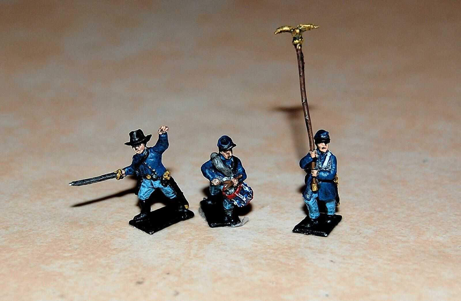 15mm 50 Union Miniatures Painted W Command ACW American Civil War