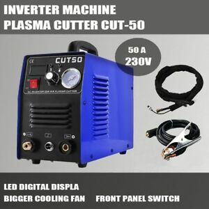 50AMP Digital Inverter DC plasma cutter cutting steel PT31 torch and consumables