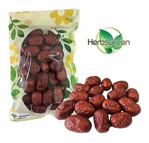 Herbsgreen Hand Sélectionné Jujube rouge chinoise dates, grande taille (8 oz (environ 226.79 g)., 1 Lb (environ 0.45 kg), 2 LB (environ 0.91 kg))
