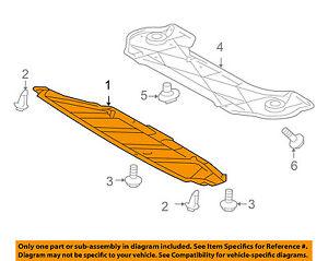 image is loading toyota-oem-highlander-splash-shield-fr-under-radiator-