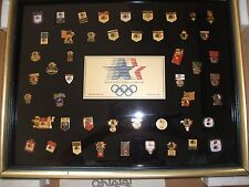 1984 OLYM[IC PINS SPONSOR SET, LIMITED EDITION,  WITH PAPER WORK