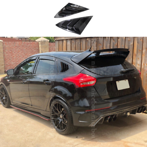 fit-for-Ford-Focus-ST-RS-MK3-Hatchback-2PC-shiny-black-Window-Side-Louvers-Vent