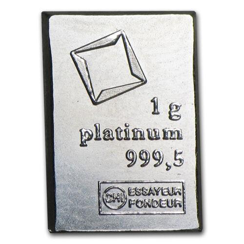 1 gram Platinum Bar .999+ Fine - SKU #24518 Secondary Market