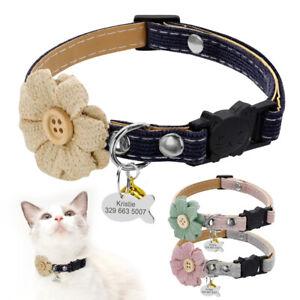 Collier-Anti-etranglement-amp-Medaille-avec-Grelot-pour-chat-ou-tout-petit-chien