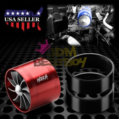 "Mi2KA Turbine Air Intake Fuel Gas Saver Single Fan System Turbo 2.5/""-3.0/"" Red"