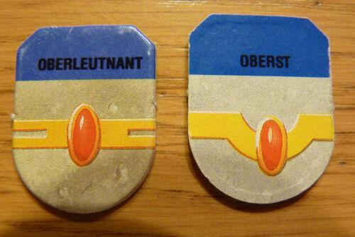 StarQuest Basisspiel von MB Ersatzteil Science Fiction Ehrenabzeichen blau Oberleutnant /Oberst Rollenspiele & Tabletops
