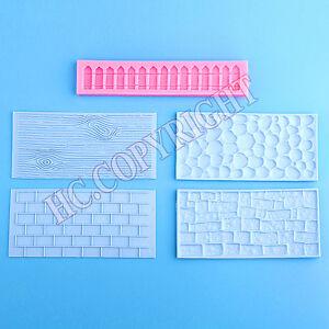 5pcs-Garden-Stone-Wall-Fence-Theme-Fondant-Mould-Cake-Decorating-DIY-Mold-Tools