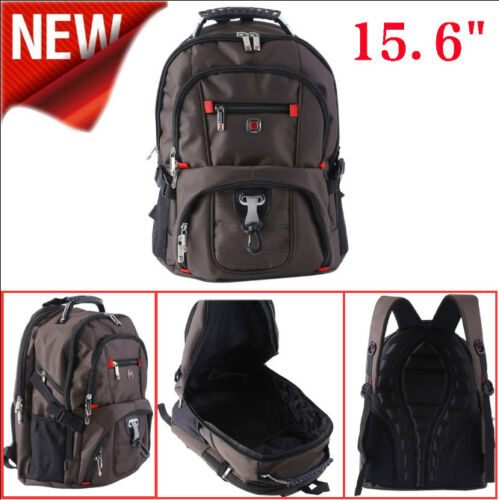 "Men/'s Rucksack Notebook 15.6/"" Laptop Backpack Shoulder Hiking Travel School Bag~"