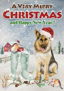 German-Shepherd-Dog-A6-4-034-x-6-034-Christmas-Card-Blank-inside-by-Starprint