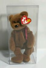 TY Beanie Baby TEDDY Brown No Star Style 4050 PVC Pellets CANADIAN Tag w Errors