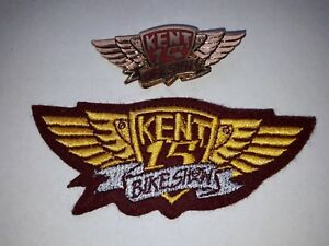 NEW-Hells-Angels-Kent-Custom-Show-1993-Patch-amp-Pin-Badge-Bike-Memorabilia