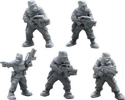 NBC suited marines 28mm metal Unpainted Wargames