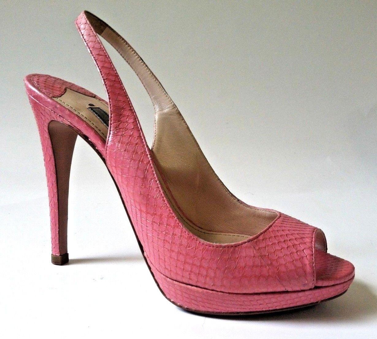 Prada damen schuhe high heel Rosa snake snake snake skin peep toe stiletto Größe 8  800 e68db9