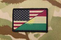 Us Kurdistan Friendship Flag Morale Patch Peshmerga Us Special Forces Infidel