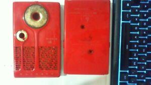 Vintage 1958 RED Emerson Vanguard 888 Transistor Radio Case Only