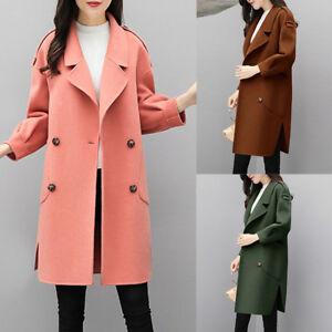 Winter-Warm-Women-Girl-Wool-Lapel-Long-Coat-Trench-Parka-Jacket-Overcoat-Outwear
