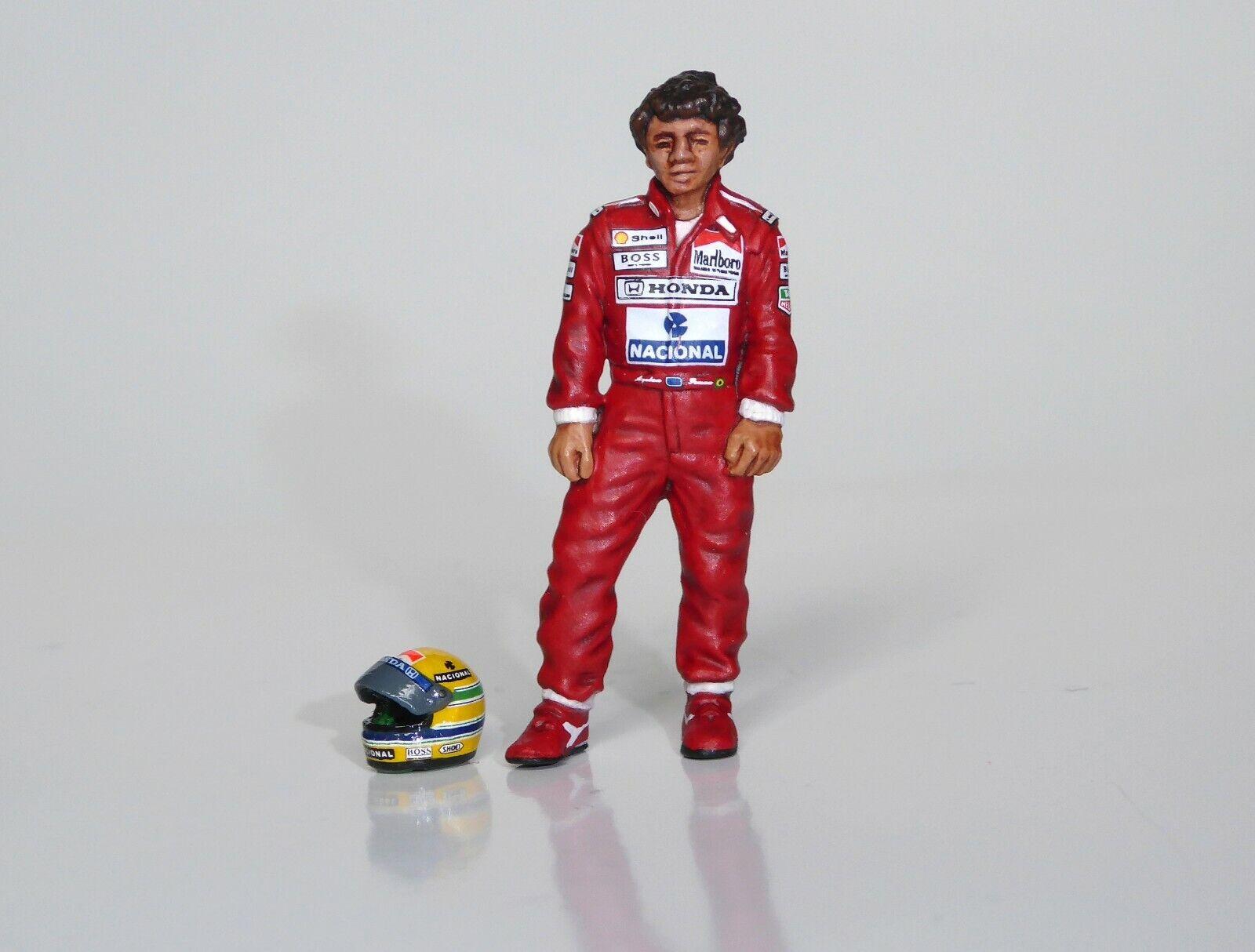1 43 Ayrton Senna McLaren Honda figurine figure standing 2 1988 1989 1990 1991
