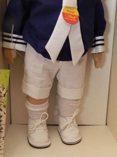42 cm 9210/42 Steiff Puppe Bernd Nr 1987 Stoffpuppe