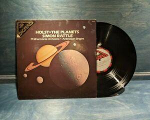 LP RECORD - HOLST - THE PLANETS - SIMON RATTLE, PHILHARMONIA, AMBROSIA SINGERS