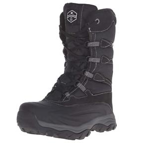Waterproof Khombu Men's Fred-K Cold-Weather Boot Hiking size 8 black - OPEN BOX