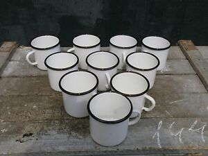 ENAMEL-MUG-CUP-ARMY-LOT-x-10-VINTAGE-USSR-SOVIET-RUSSIAN-10-ps