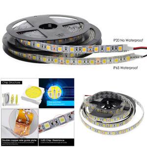 5M-SMD-300-600-LED-3014-3528-5050-5630-Waterproof-Flexible-Strip-Light-12V-White