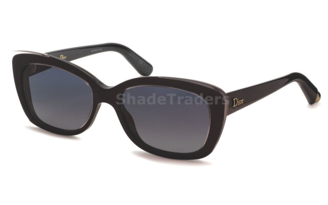 CHRISTIAN DIOR SUNGLASSES BLACK CRYSTAL CLEAR BLUE GREY GRADIENT PROMESSE 3 IDHD