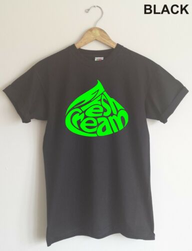 Cream T-shirt All Sizes//Colours 60/'s Psychedelic /'Fresh Cream/' Logo