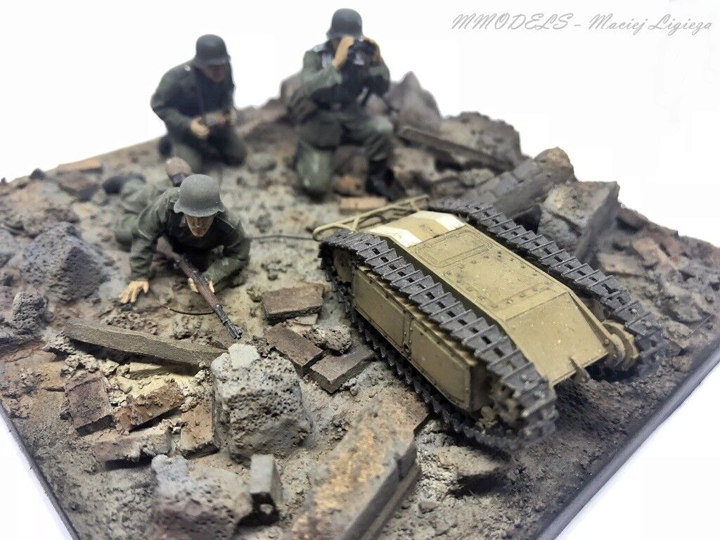 Diorama   WW2 German Anti Tank Squad  Goliath  - 1 35 - gebaut und gemalt  | Verschiedene Stile und Stile