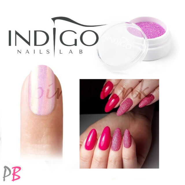 Indigo Mermaid Pastel Pink Effect Nails Art Powder Glimmer Shimmer Dust  SYRENKA