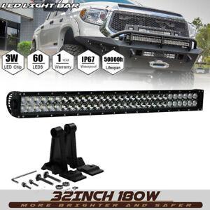 180W 30/'/' LED Work Roof Lights Bar Spot Flood Combo Driving Lamp 4X4 ATV
