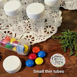 50-Tiny-Tubes-Vial-Pills-Tablet-Powder-Container-Powder-Geocache-2810-DecoJars