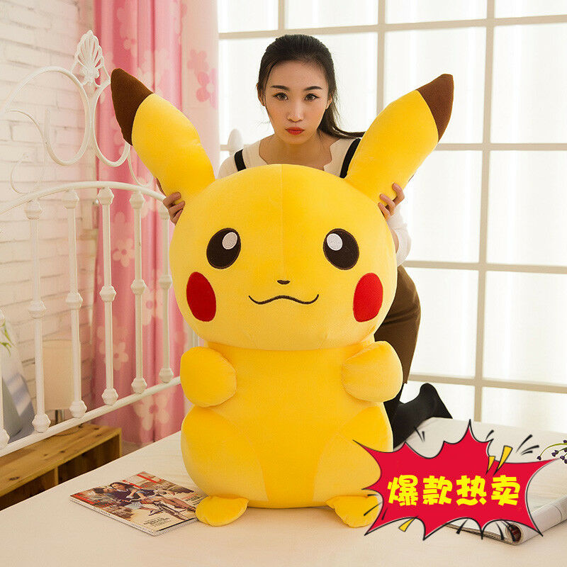 Hot Pikachu Plush Toys Giant Cute Go Stuffed Animal Doll Favor Gift 85CM
