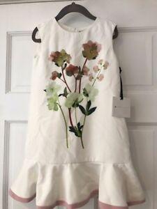 NWT-Victoria-Beckham-Target-Girls-Floral-Ruffle-Hem-Easter-Dress-XS-4-5