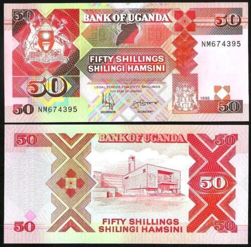UGANDA 50 Shillings 1998 Pick 30c 1998 UNC