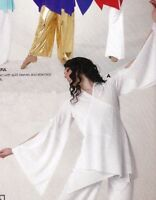 Praise Dance Liturgical Bell Sleeve Wrap Top White Child Ladies Sizes 85070