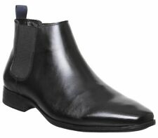 Mens Office Boe Chelsea Boots Black Leather Boots