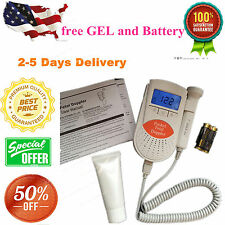 FDA Fetal Doppler 3MHz Probe, Baby Heart Monitor, Backlight LCD + GeL +battery