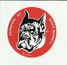 88908 ADESIVO LABEL STICKER CANE DOG APPROVED BY RENCO MARWELL MILANO