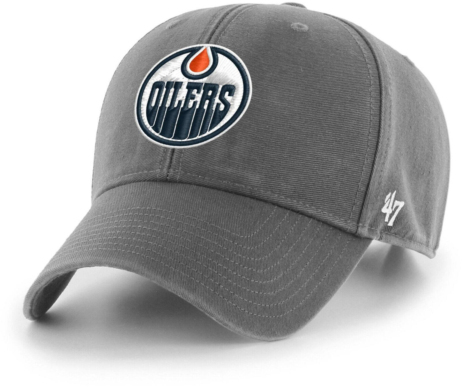 Edmonton Oilers 47 Brand MVP Dunkelgrau Legend NHL Team Kappe