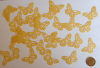 20 Gold Pearlescent Butterflies for Table Confetti Cards Wedding invites etc
