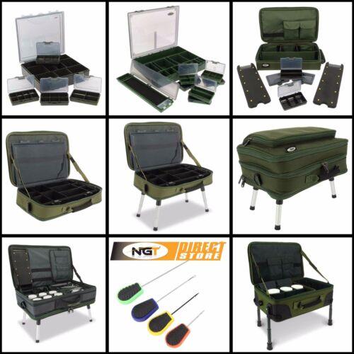 NGT Tackle Box Carp Station Bivvy Table Storage Session Box Muti Option Boxes