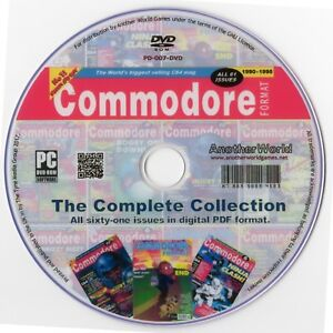 COMMODORE-FORMAT-Magazine-Collection-on-Disk-AMIGA-C64-C128-CDTV-CD32-Games